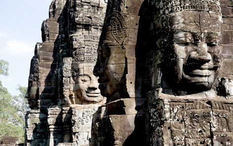 The fascinating faces of Bayon Temple